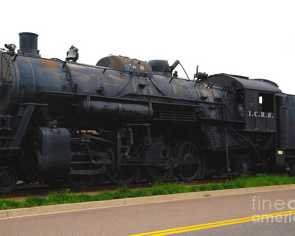 Locomotive Poster featuring the photograph Loc 1518 In Paducah Ky by Susanne Van Hulst
