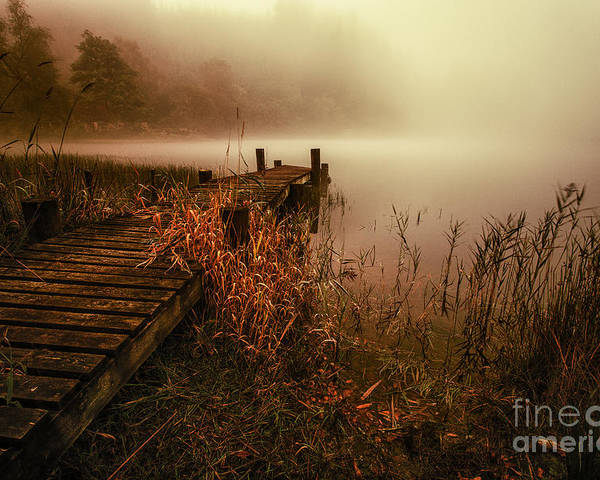 Color Image Poster featuring the photograph Loch Ard Early Morning Mist by John Farnan