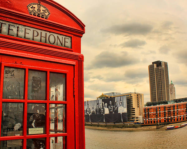 Red Phone Box Poster featuring the photograph London Calling by Jasna Buncic