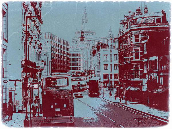 London Fleet Street Poster featuring the photograph London Fleet Street by Naxart Studio