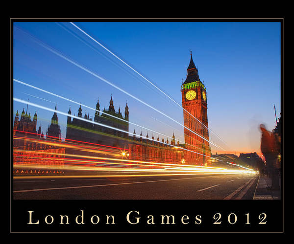 big Ben Poster featuring the photograph London Games 2012 by Andria Patino
