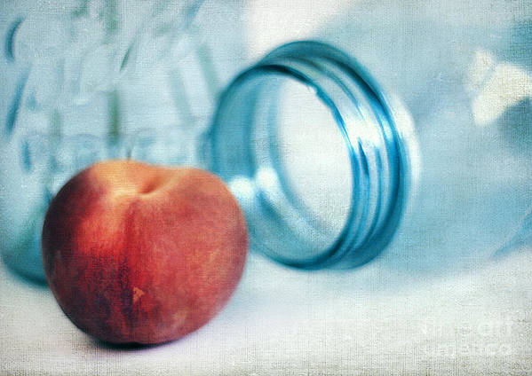 Appetizer Poster featuring the photograph Lone Peach by Darren Fisher