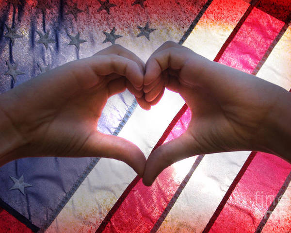 Independence Poster featuring the photograph Love From America by Lj Lambert
