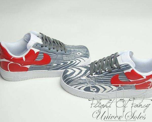 Nike Poster featuring the mixed media Love Woods Custom Air Force Ones by Joseph Boyd