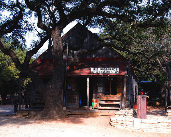 Luckenbach Poster featuring the photograph Luckenbach Texas - II by Susanne Van Hulst