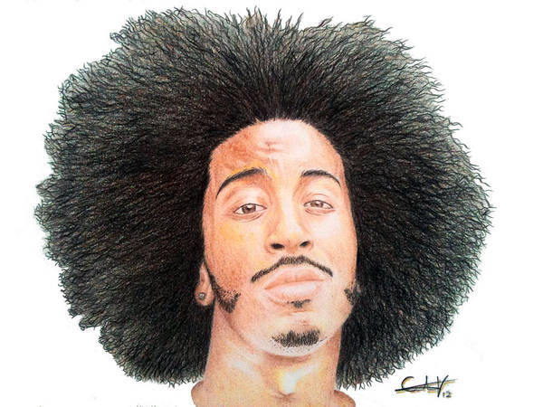Ludacris Poster featuring the drawing Ludacris by Carlos Velasquez Art