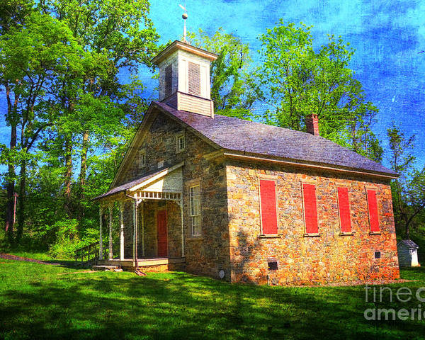 Lutz-franklin Poster featuring the photograph Lutz-franklin Schoolhouse by Paul Ward