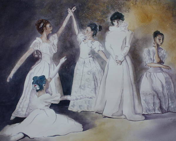 Ballet Dancers Poster featuring the painting Magic by Patsy Sharpe