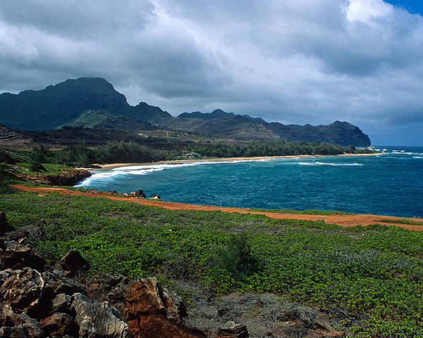 Kauai Poster featuring the photograph Maha'ulepu Beach by Kathy Yates