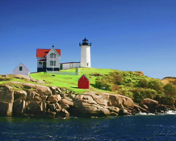 Maine Poster featuring the photograph Maine Light Painting Look by Dulce Levitz
