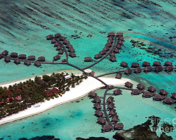 Above Poster featuring the photograph Maldives Aerial by Jane Rix