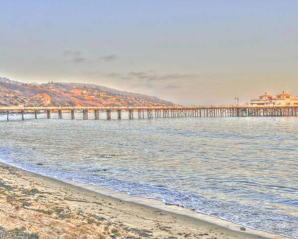 Malibu Poster featuring the photograph Malibu Pier North by Richard Omura