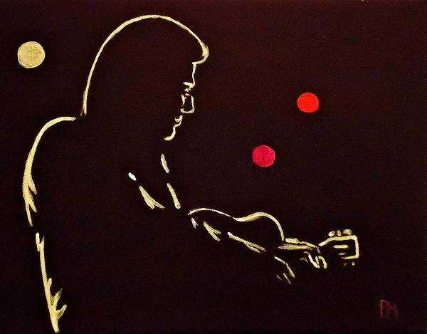 Johnny Cash Poster featuring the painting Man In Backlit by Pete Maier
