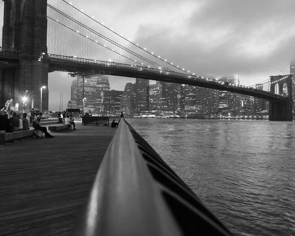 Brooklyn Bridge Poster featuring the photograph Manhattan Bridge by Nina Mirhabibi