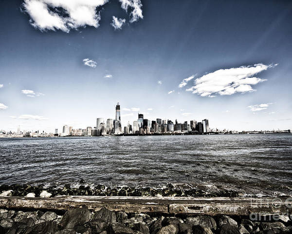 New York Poster featuring the photograph Manhattan by Leslie Leda