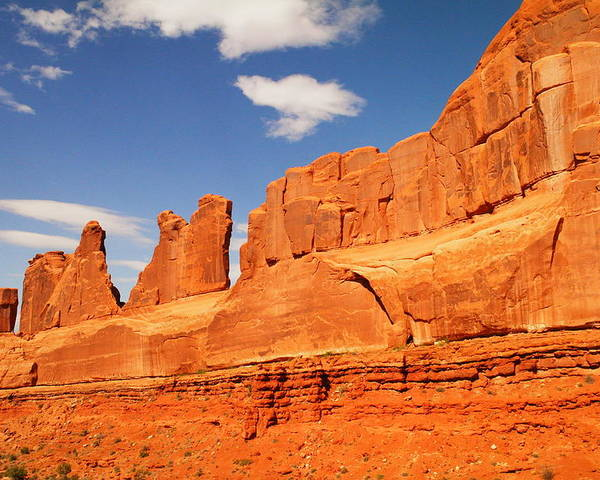 Arches National Park Poster featuring the photograph Manhatten In Utah by Jeff Swan
