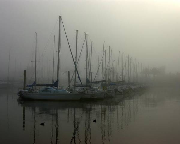 Mist Poster featuring the photograph Mariners Mist by John Pierce Jr