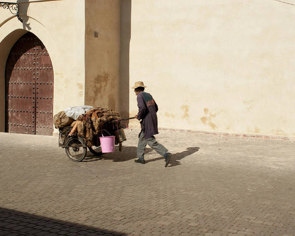 Morocco Poster featuring the photograph Marrakech Old Town Street Life by Pat Garret