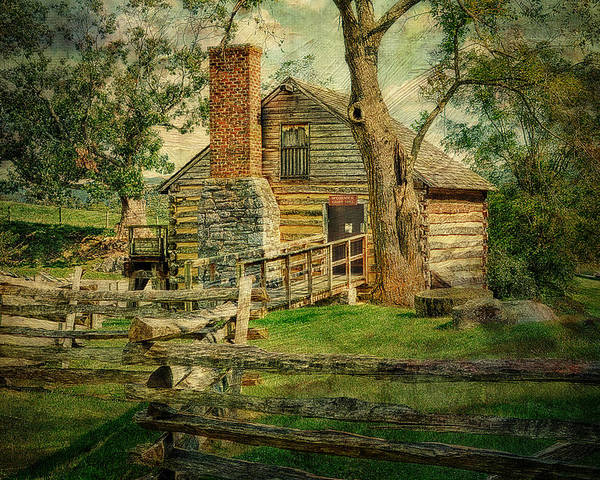Mccormicks Farm Poster featuring the photograph Mccormick Grist Mill by Kathy Jennings