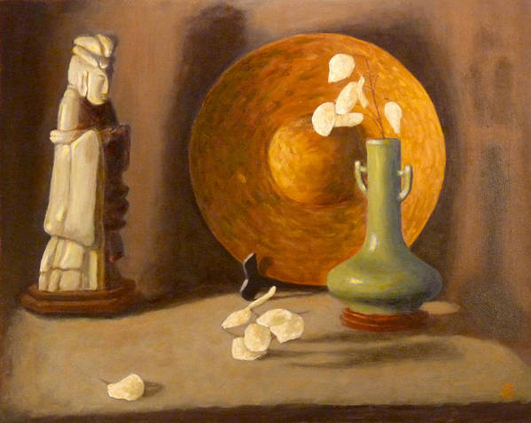 Still Life Poster featuring the painting Meditation by Joe Bergholm