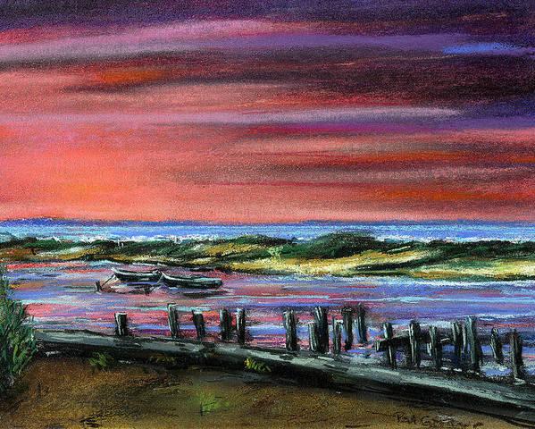 Menemsha Poster featuring the painting Menemsha Sunset by Paul Gardner