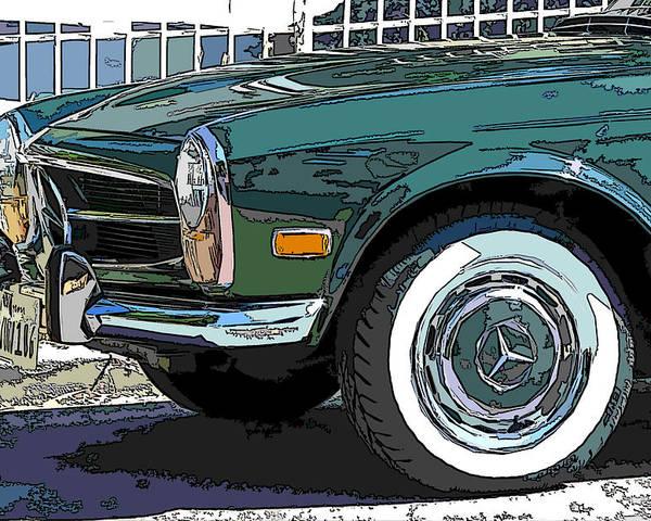 Mercedes Benz Poster featuring the photograph Mercedes Benz 280sl Roadster 2 by Samuel Sheats