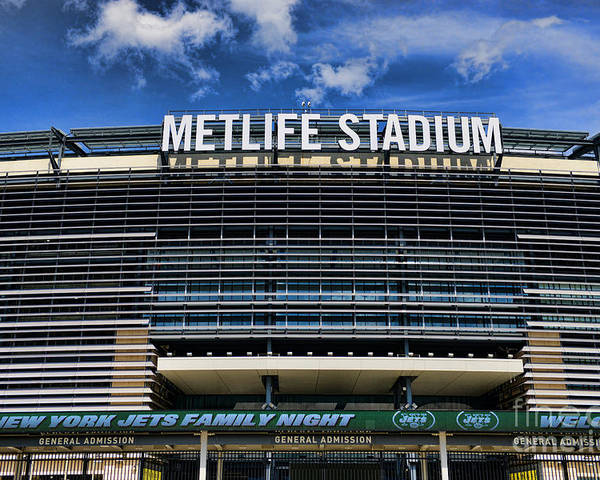 Metlife Stadium Poster featuring the photograph Metlife Stadium by Paul Ward