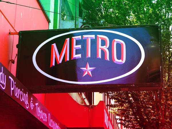 Sign Poster featuring the photograph Metro Star by Kathleen Grace