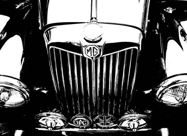 Mg Poster featuring the photograph Mg Grill Black And White by Nick Kloepping