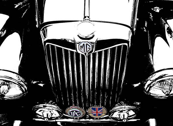 Mg Poster featuring the photograph Mg Grill With Dash Of Color by Nick Kloepping