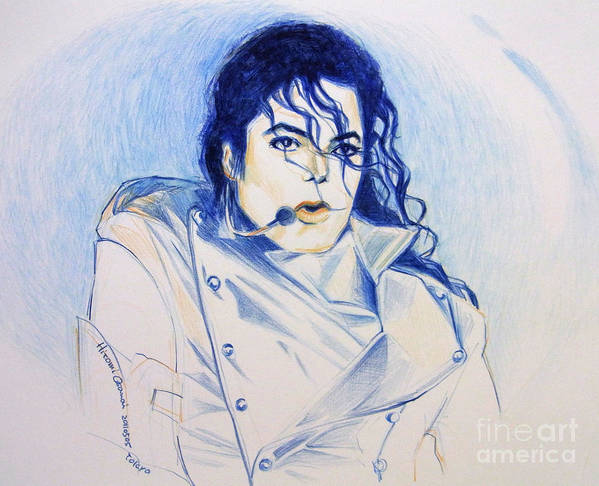 Michael Jackson Poster featuring the drawing Michael Jackson - History by Hitomi Osanai
