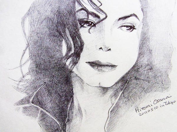 Michael Jackson Poster featuring the drawing Michael Jackson - Nothing Compared To You by Hitomi Osanai
