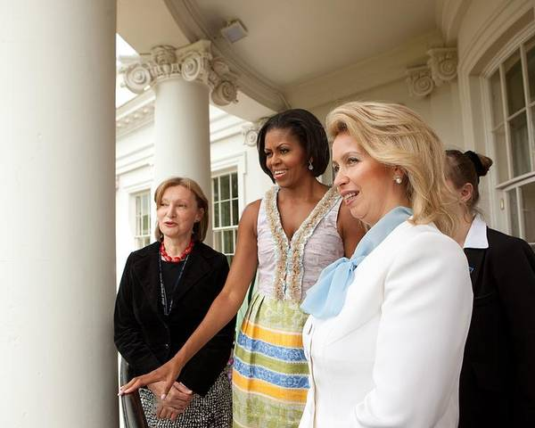 History Poster featuring the photograph Michelle Obama Hosts First Lady by Everett