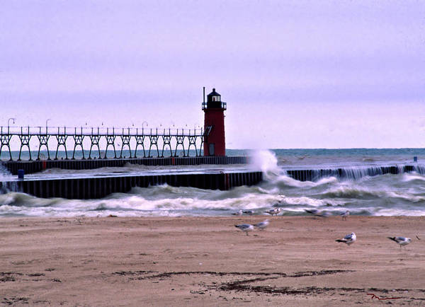 Michigan City Lighthouse Poster featuring the photograph Michigan City Lighthouse Indiana by Marsha Williamson Mohr
