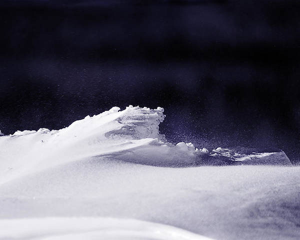Snow Drifts Poster featuring the photograph Midnight In January by Susan Capuano