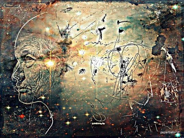 Microcosm Poster featuring the digital art Mikrokosmos by Paulo Zerbato