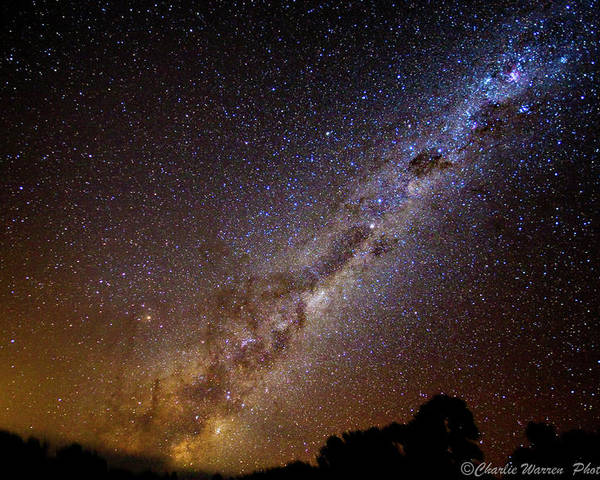 Astro Images Poster featuring the photograph Milky Way Down Under by Charles Warren