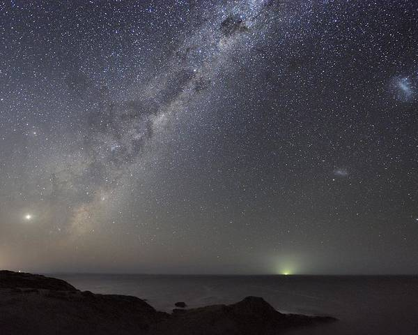 Milky Way Poster featuring the photograph Milky Way Over Flinders, Australia by Alex Cherney, Terrastro.com