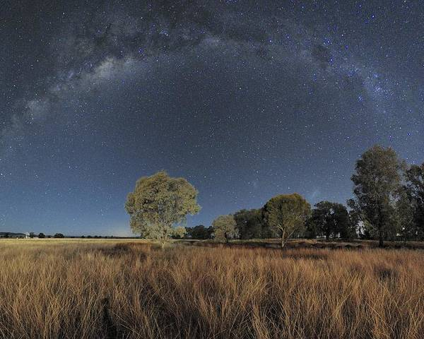 Milky Way Poster featuring the photograph Milky Way Over Parkes Observatory by Alex Cherney, Terrastro.com