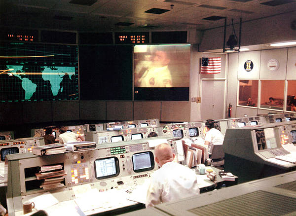 1970s Poster featuring the photograph Mission Operations Control Room - by Everett