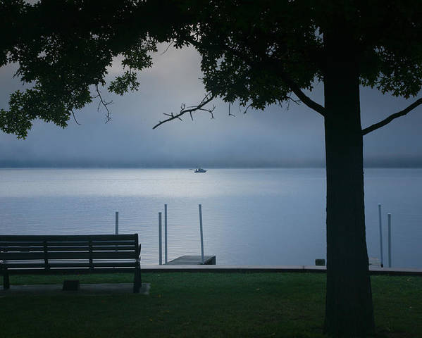 Misty Poster featuring the photograph Mist On The Lake by Steven Ainsworth