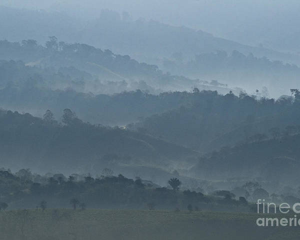 Heiko Poster featuring the photograph Misty Hills Of Chiriqui by Heiko Koehrer-Wagner