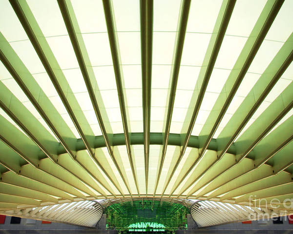 Abstract Poster featuring the photograph Modern Architecture by Carlos Caetano