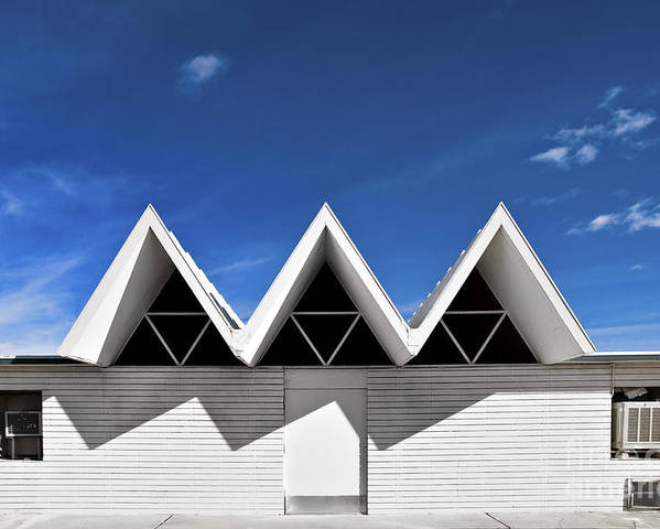 Angles Poster featuring the photograph Modern Building Roofing by Eddy Joaquim