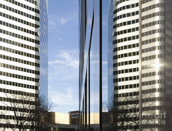 Architecture Poster featuring the photograph Modern High Rise Office Buildings by Roberto Westbrook