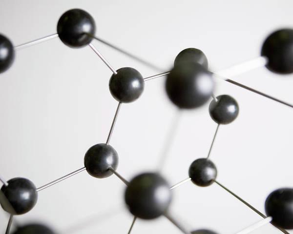 Horizontal Poster featuring the photograph Molecular Model by Vladimir Godnik