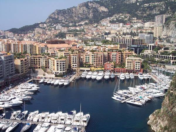 Monaco Poster featuring the photograph Monaco Harbour by Marlene Challis