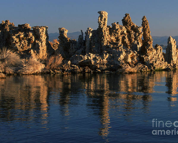 Sandra Bronstein Poster featuring the photograph Mono Lake Tufa by Sandra Bronstein