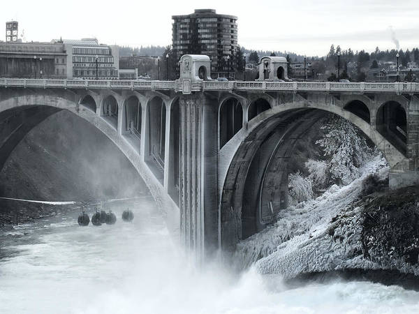 Spokane Poster featuring the photograph Monroe St Bridge 2 - Spokane Washington by Daniel Hagerman