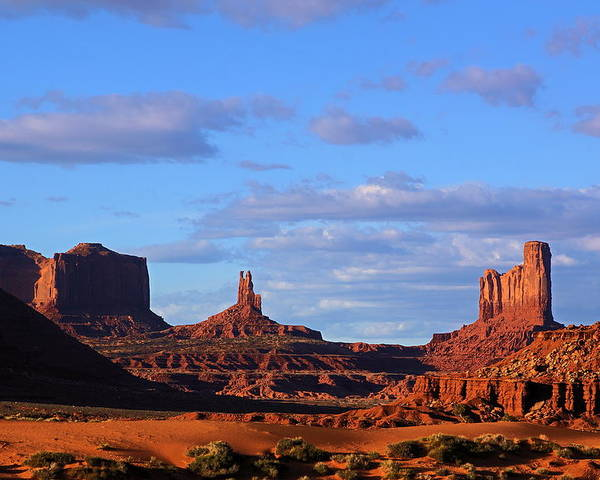 Monument Valley Poster featuring the photograph Monument Valley Evening by Viktor Savchenko